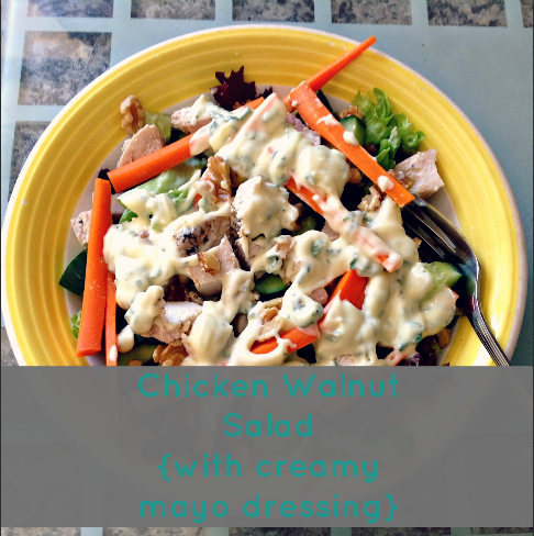 Chicken Walnut Salad with Creamy Mayo Dressing