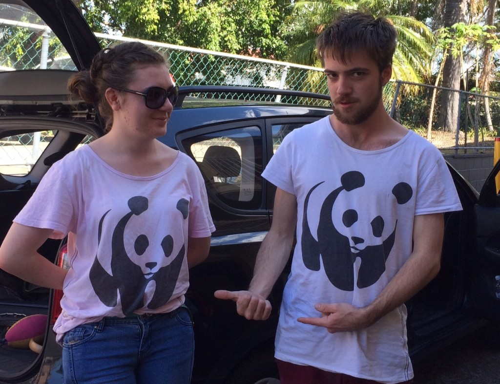 Unintentional matching t-shirts
